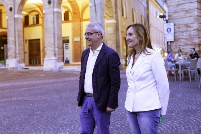 Romano Carancini e Deborah Pantana