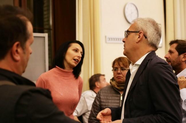 Il sindaco Romano Carancini con Marina Pallotto