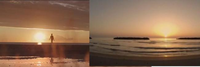 A sinistra un frame di Wonderful life e a destra quello di Moments like this