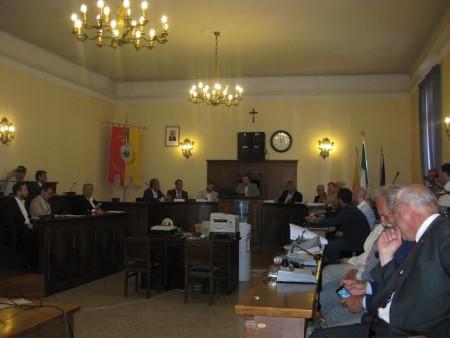La commissione con tutta la delegazione e i consiglieri del comune di Civitanova