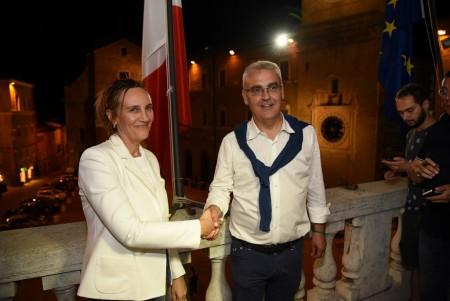 Deborah Pantana e Romano Carancini (foto di Carlo Torresi)
