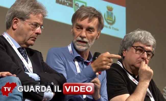 Paolo Gentiloni, Graziano Delrio e Ermete Realacci( clicca sull'immagine per guardare il video)