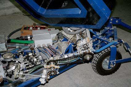 Un dettaglio della parte meccanica realizzata dal 37enne