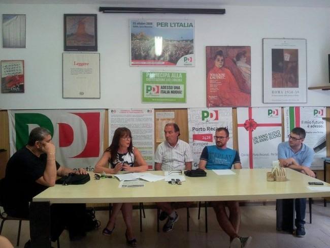 La conferenza stampa di questo pomeriggio. Da sinistra Ettore Perna, Antonella Cicconi, Silvano Senigagliesi, Andrea Dezi e Petro Feliciotti