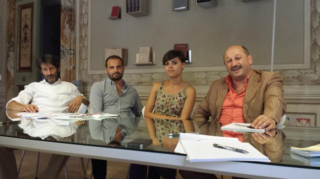 Da sinistra: gli avvocati Fabio Messi e Antonio Renis, la dottoressa Ludovica Verolo, il legale Narciso Ricotta dello studio Iure Mrr