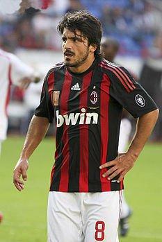 Rino Gattuso ai tempi del Milan