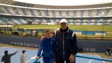 Lorenzo Moscoloni e il nonno Giovanni