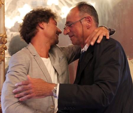 Francesco Luciani e Luciano Pantanetti, vice presidente e presidente del Consiglio comunale