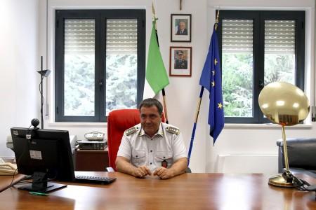 Il colonnello Paolo Papetti nel nuovo ufficio
