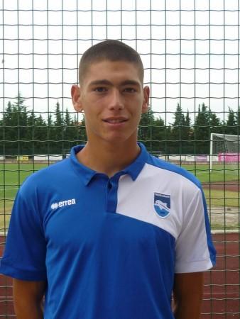 Saverio Giachetta con la maglia del Pescara Calcio