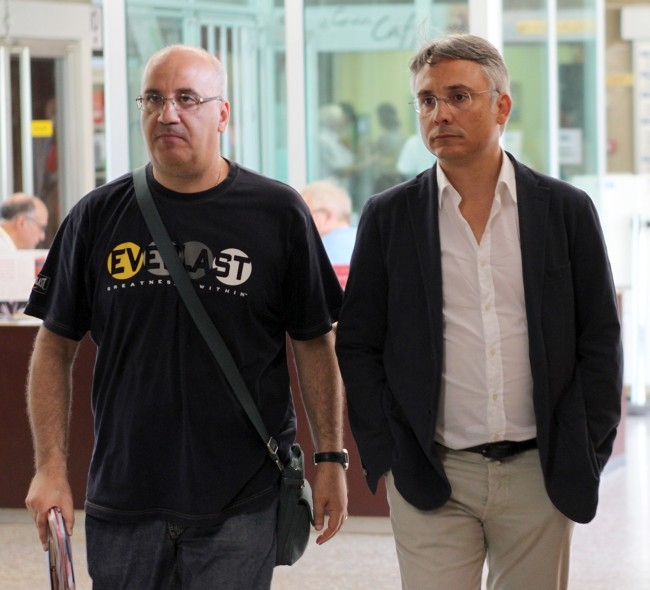Da sinistra: Vincenzo Ierardi, del reparto operativo cc Macerata insieme al pm Claudio Rastrelli