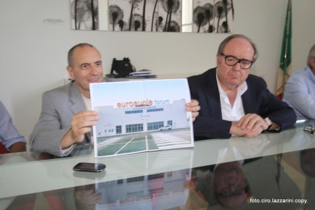 Il sindaco Tommaso Corvatta e Germano Ercoli