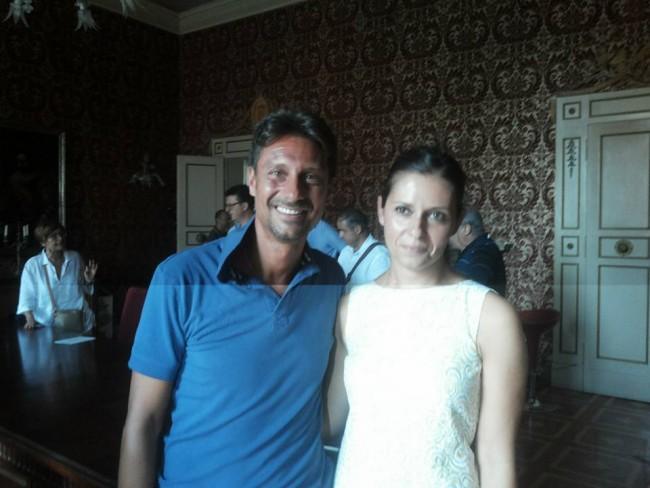 Rogante e il suo vice Francesco Luciani