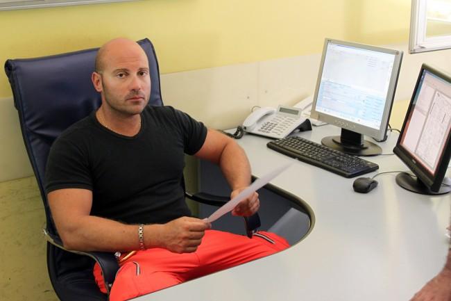 Giacomo Nobis, uno degli infermieri del 118 in centrale