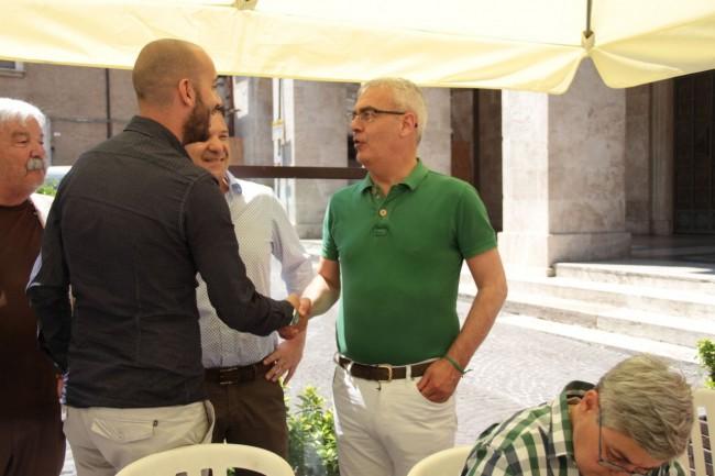 presentazione nuovo allenatore Maceratese Bucchi carancini foto ap 2