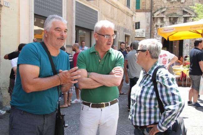 presentazione nuovo allenatore Maceratese Bucchi carancini tardella foto ap 1