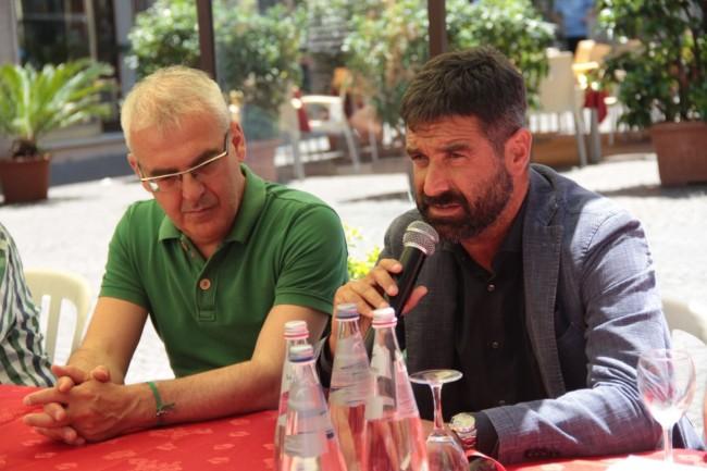presentazione nuovo allenatore Maceratese Bucchi foto ap 16