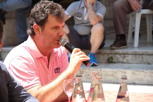presentazione nuovo allenatore Maceratese Bucchi foto ap 17