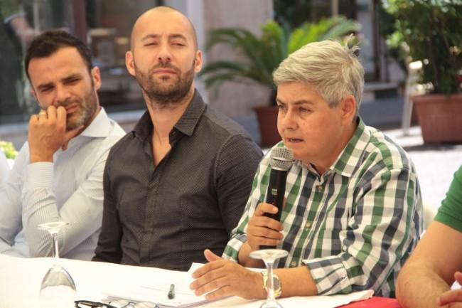 presentazione nuovo allenatore Maceratese Bucchi tardella foto ap 10