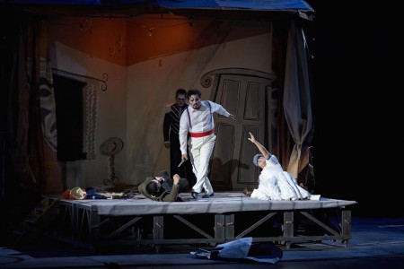Pagliacci, scena finale (foto Alfredo Tabocchini)