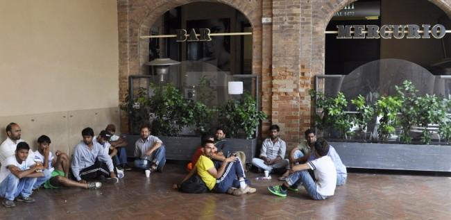 I rifugiati sotto la Loggia dei mercanti