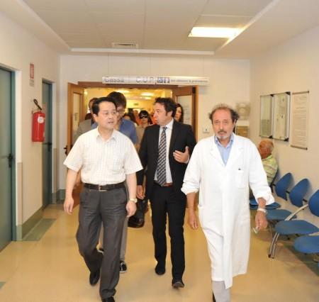 La visita della delegazione stamattina
