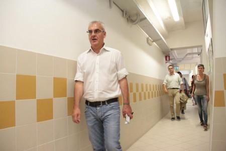Il sindaco Romano Carancini allo stadio Helvia Recina