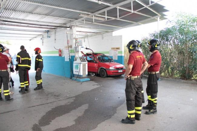 esplosione con morto metano a corridonia foto ap 24