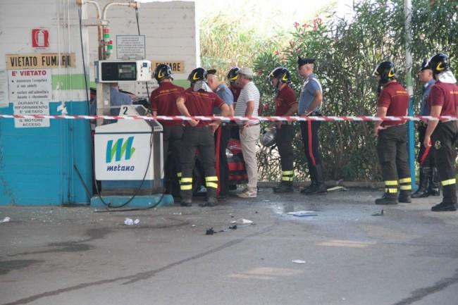 esplosione con morto metano a corridonia foto ap 7