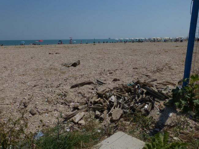 spiaggia libera civitanova sporcizia33
