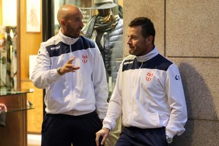 Bucchi e Gianangeli: potrebbe essere l'ex allenatore del Matelica a guidare la Maceratese nel prossimo campionato
