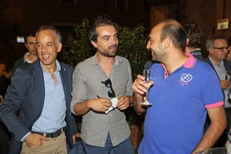 L'agente Gino Tartari con Claudio Ricci e Andrea Busiello