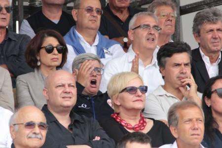 La presidente Maria Francesca Tardella allo stadio