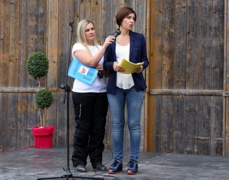 Rita Torregiani, sorella_consegna moto torregiani vigili del fuoco_Foto LB