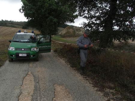 L'area sequestrata a Pievebovigliana