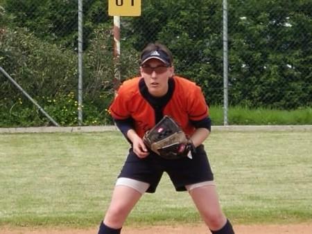 Irene Ferramondo a Macerata durante una partita di softball