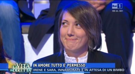 """Irene Ferramondo ieri a """"La vita in diretta"""""""