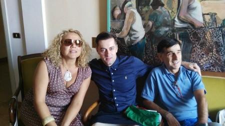 Da sinistra Fernanda Recchi, Andrea Civita e Agostino Basile