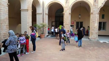 Il plesso scolastico Sant'Agostino a Civitanova Alta