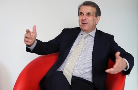 Claudio Orazi durante una visita alla redazione di Cronache