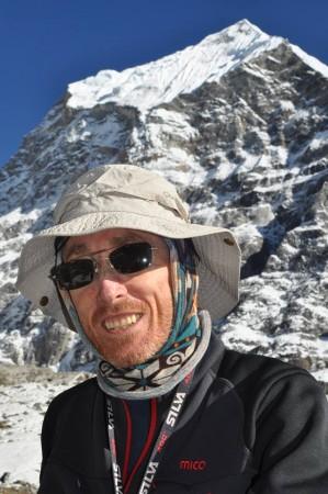 Luca Natali in una delle sue esplorazioni