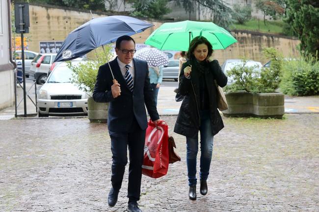 L'avvocato Marco Massei al suo arrivo al palazzo di giustizia