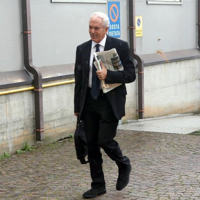 Il procuratore Giovanni Giorgio al suo arrivo in tribunale questa mattina prima di entrare in aula per sostenere l'accusa al processo
