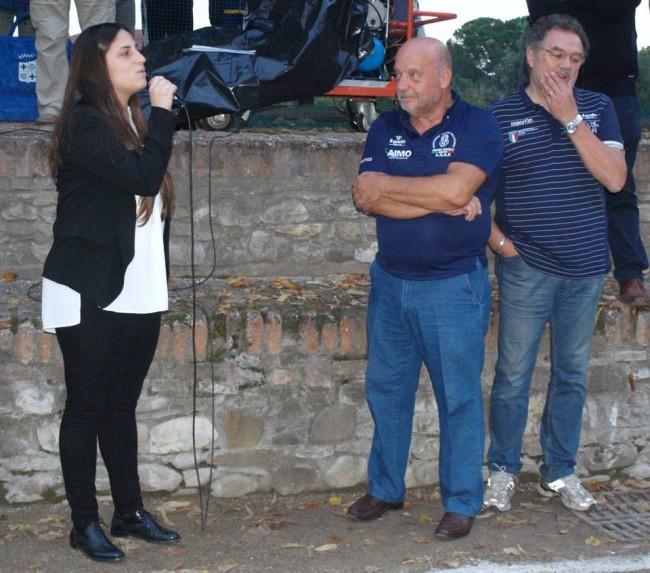 Il sindaco di Santarcangelo Alice Parma e i rappresentanti Fipap