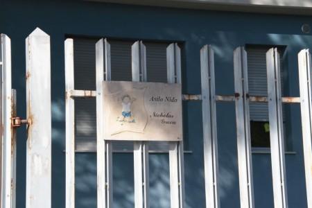 L'insegna dell'asilo Green di Tolentino
