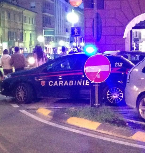 I carabinieri arrivati in corso Cavour