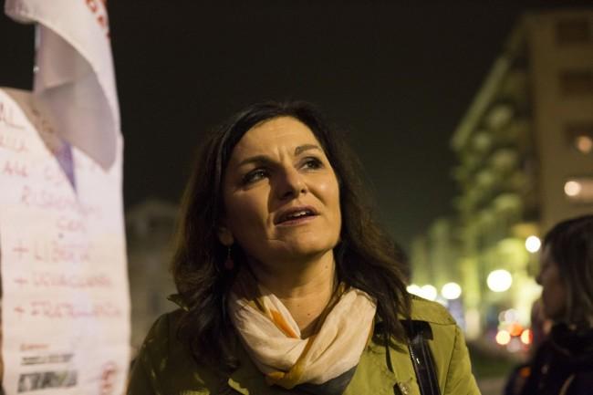Manifestazione solidarietà sferisterio flash mob Francia attentato monteverde foto ap (7)