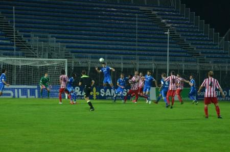 Un'azione di gioco della partita di ieri con il Prato (foto di Fabiola Monachesi)