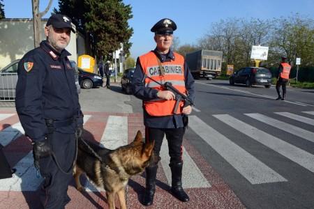 Un posto di blocco dei carabinieri di Civitanova per aumentare la sicurezza nel territorio (foto d'archivio)