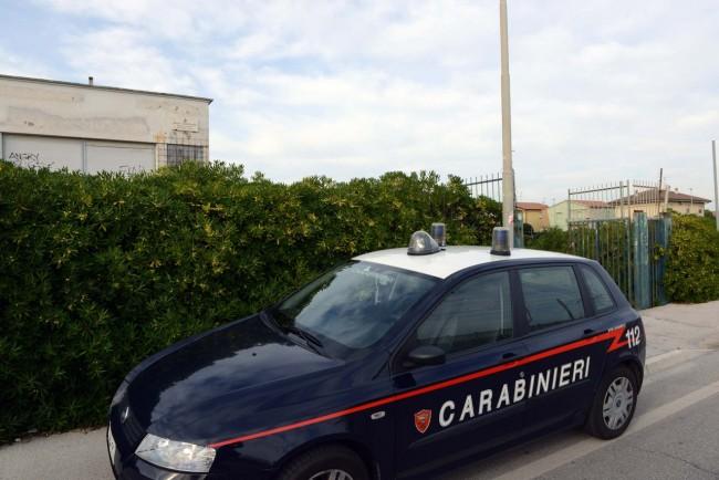 I carabinieri all'ex liceo